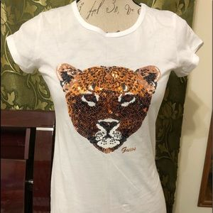 Guess Sequin Tiger Tee